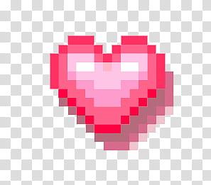 PASTEL PIXELS IV, pixelated red heart art transparent.