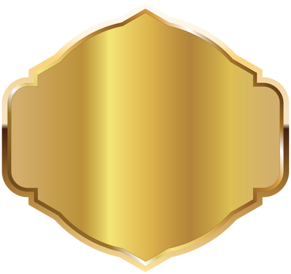 Gold Seal with Gold Ribbon PNG Clipart Image.