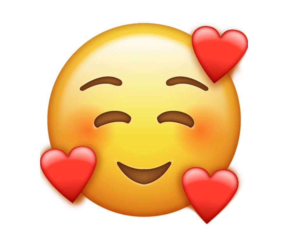emoji with hearts png transparent background image.