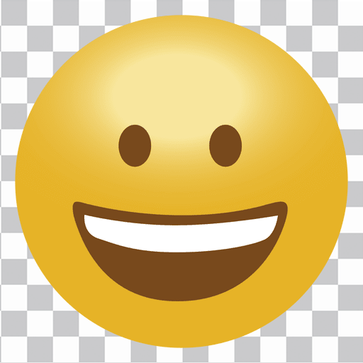 Happy emoji emoticon.
