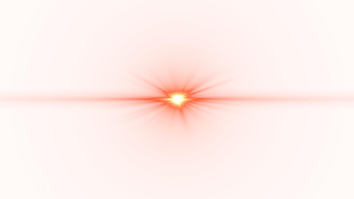 Front Red Lens Flare PNG Image.