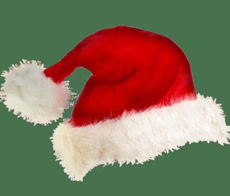 Santa Hat transparent background Christmas Image.