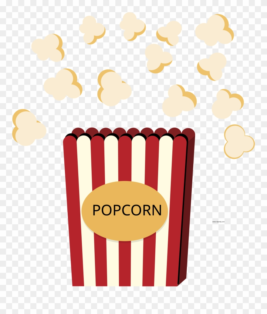 Popcorn And Box Clipart Png.