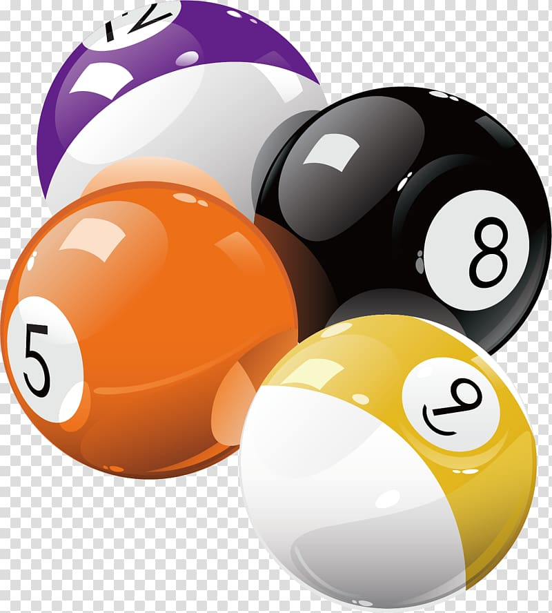 Billiard balls illustration, Pool Billiard ball Billiards.
