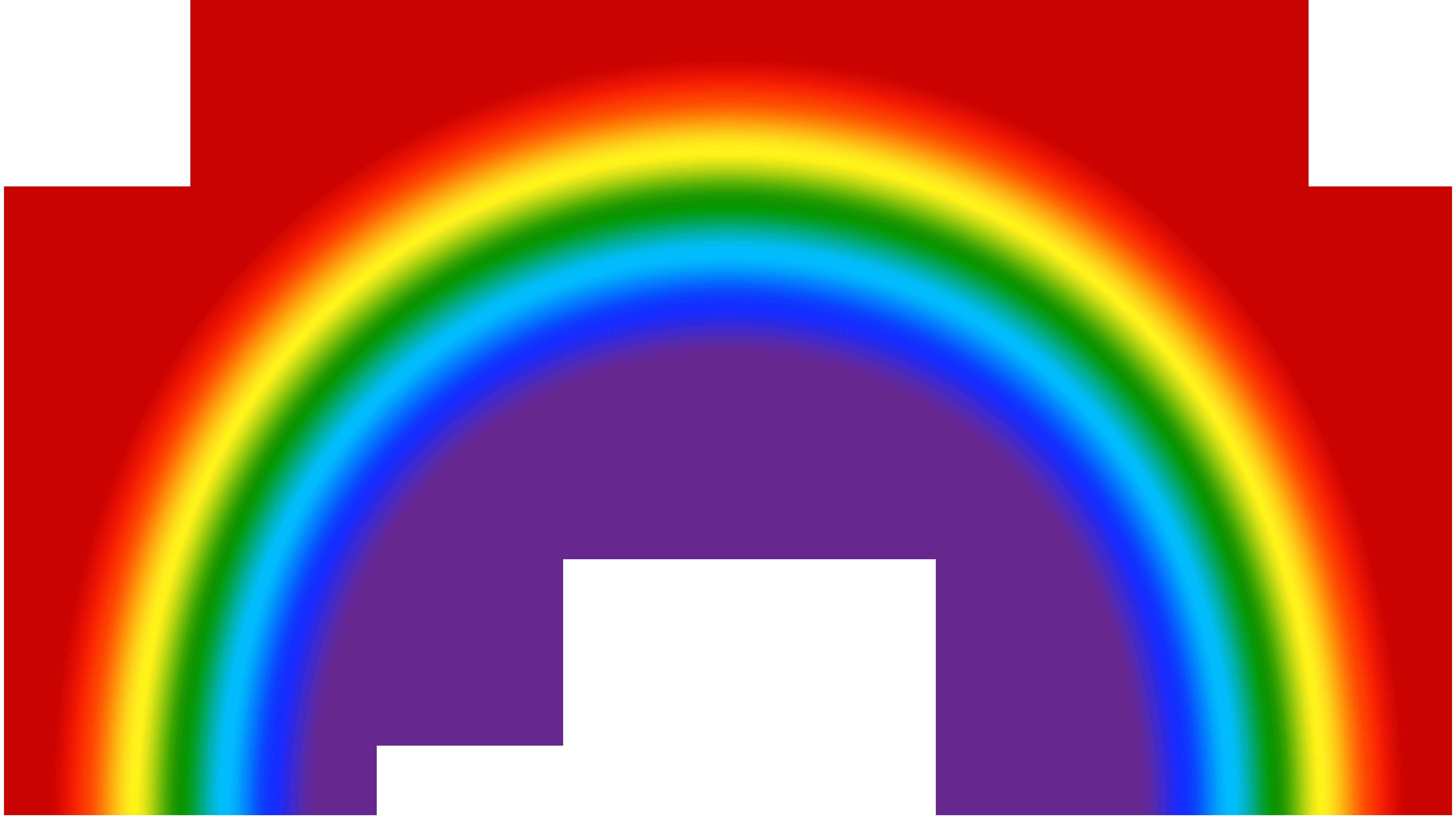 Transparent Rainbow Clip Art Image.