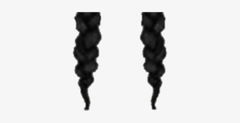 Black Braid Hair Extensions Transparent.