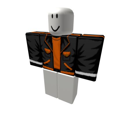 Orange Transparent Jacket.