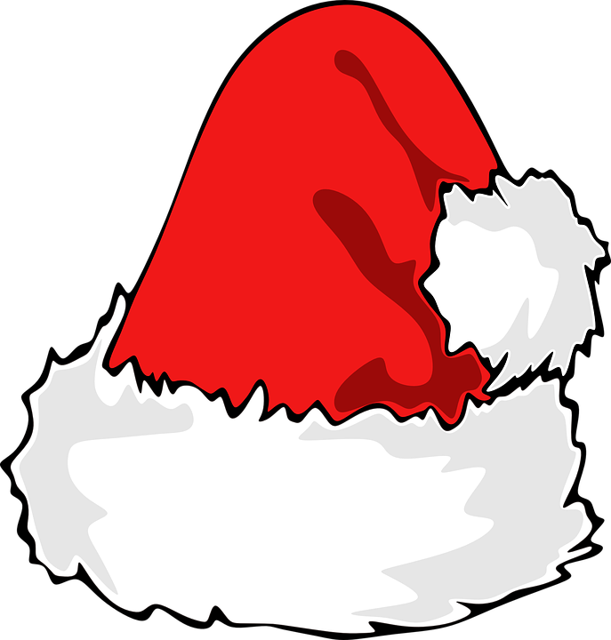 Transparent santa hat clipart black and white clipground