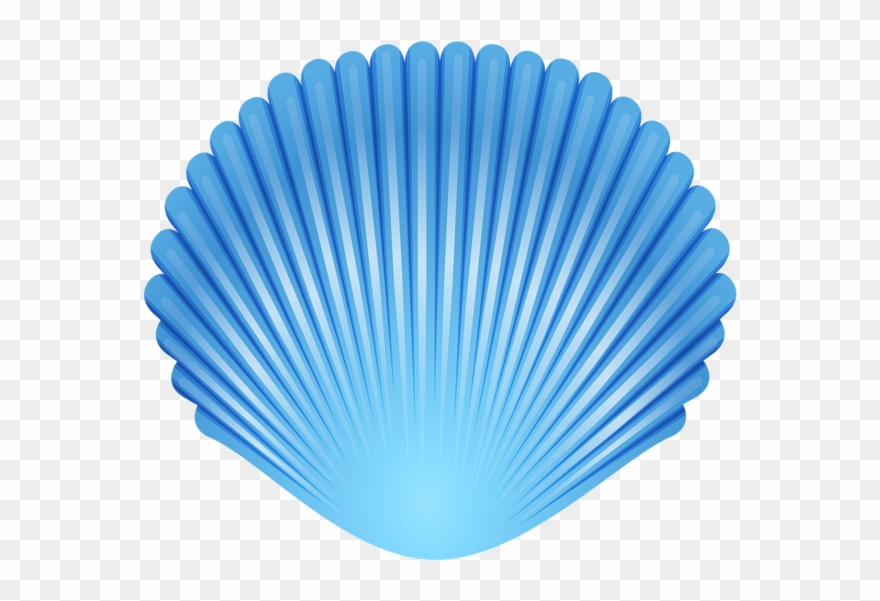 Blue Seashell Transparent Png Clip Art Image.