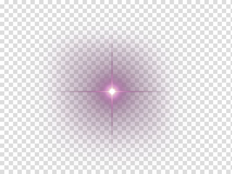Purple simple light shine effect element transparent.
