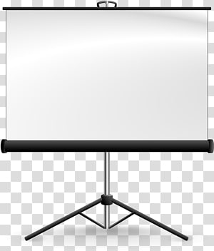 White and black projector screen, Projection screen Video.