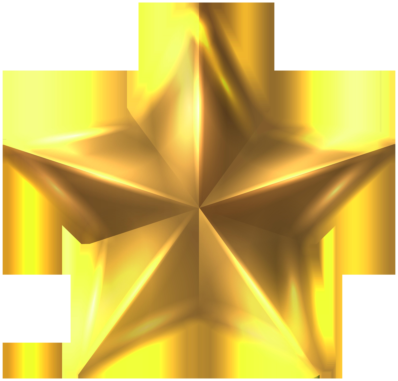 Christmas Star Transparent PNG Clip Art Image.