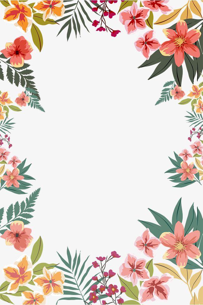 Flower Border Shape, Border, Flower Borders, Hand Drawn.