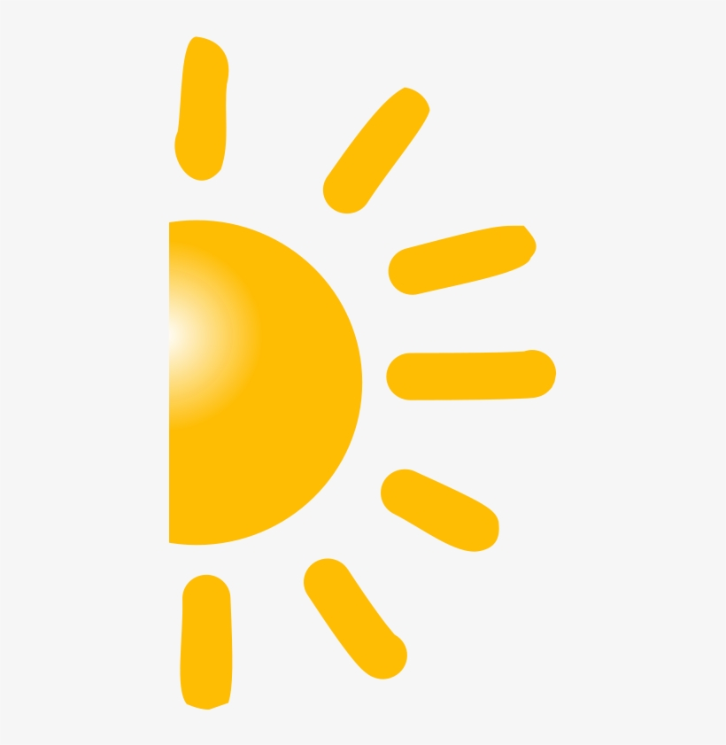 Half Sun Clipart Png.