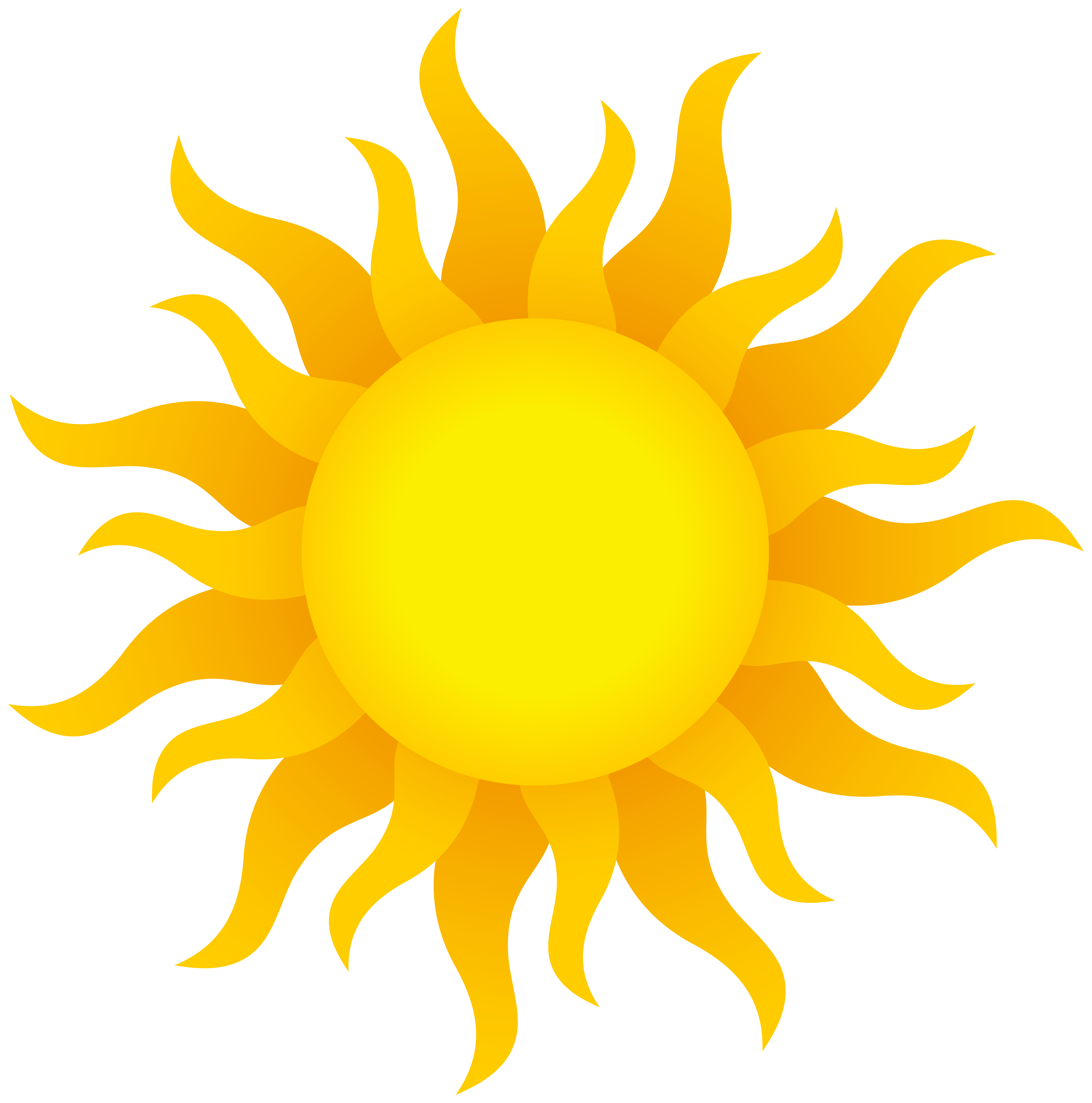 Sun Transparent PNG Clip Art Image.