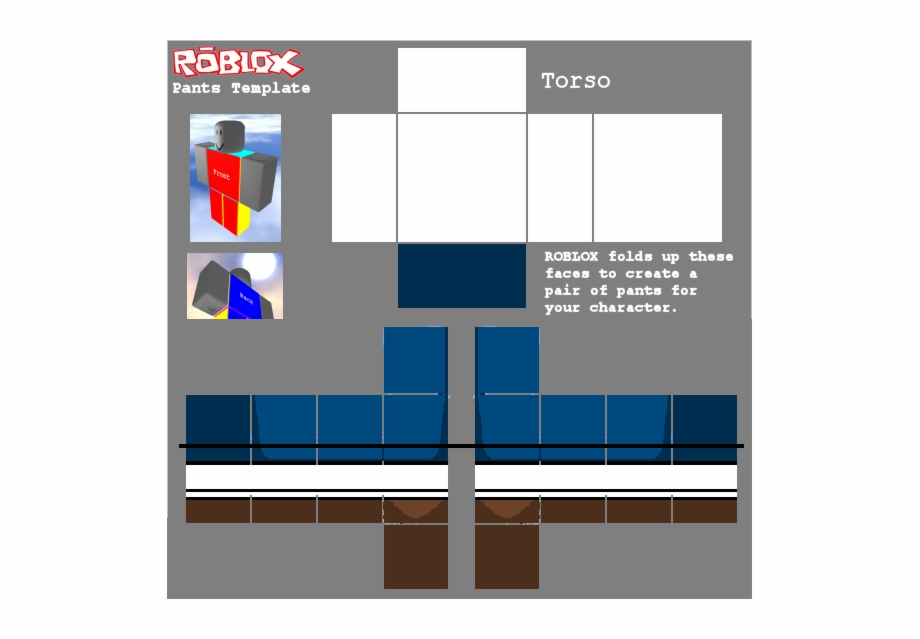 Roblox Pants Template.