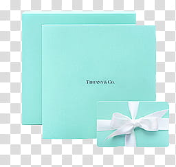 Fashion, Tiffany & Co. box transparent background PNG.