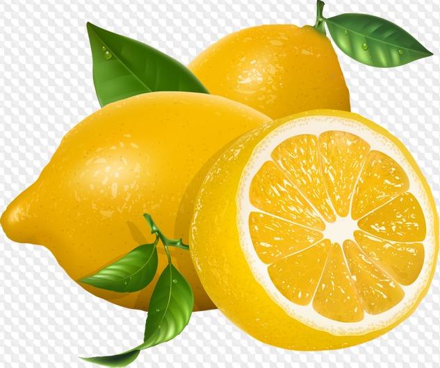 PSD, 30 PNG, Lemon, graphics on a transparent background.