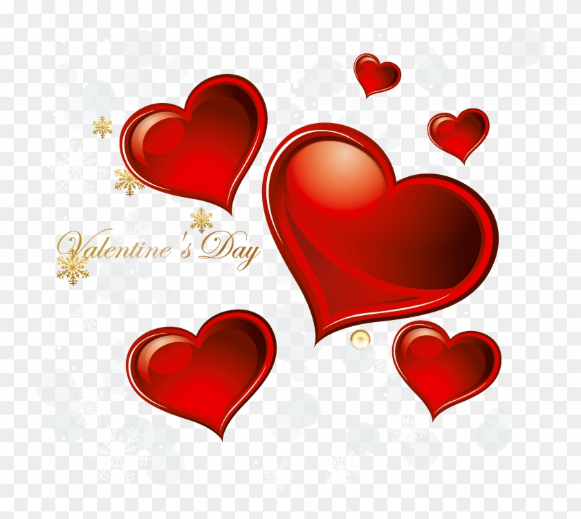 Valentines Day Hearts Decoration Png Clipart.