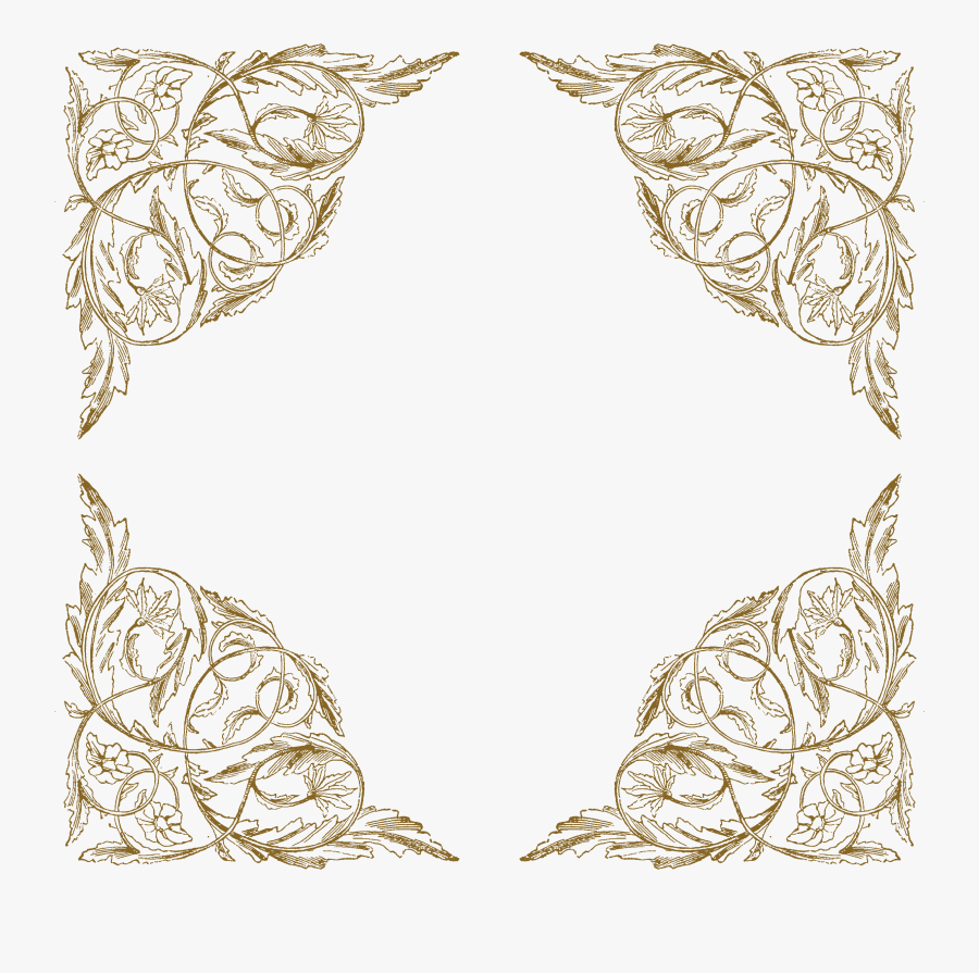 Transparent Vintage Lace Border Png.