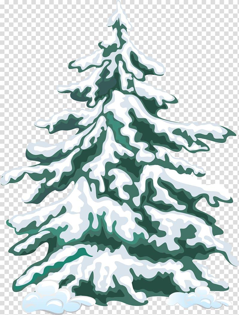 Tree Snow Pine Evergreen , Vintage Winter transparent.