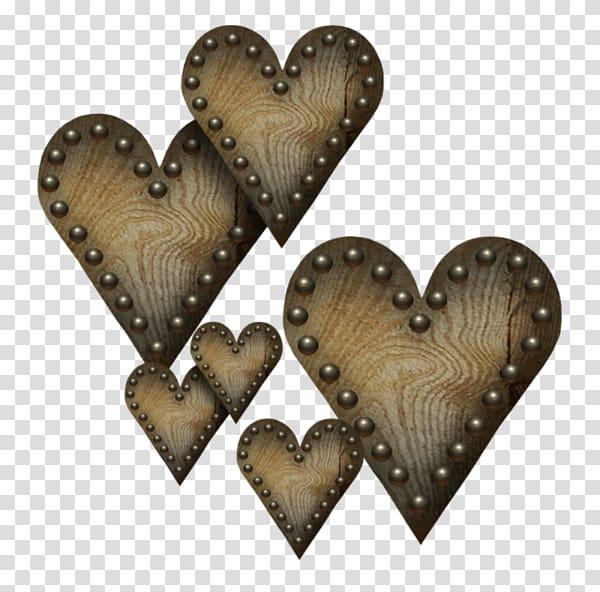Heart , Vintage wood texture heart.