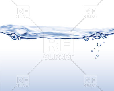 Transparent water with bubbles Vector Image #27718.