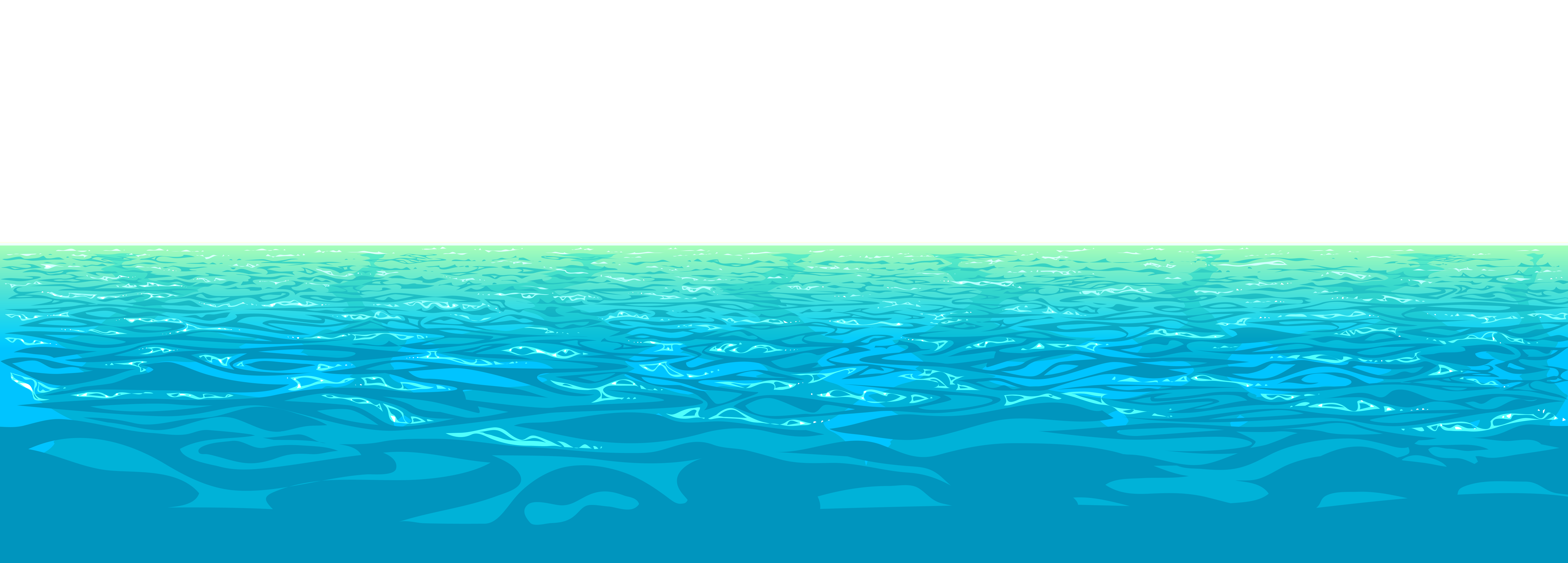 Sea Water PNG Clipart.