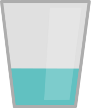 Transparent background water glass clipart.
