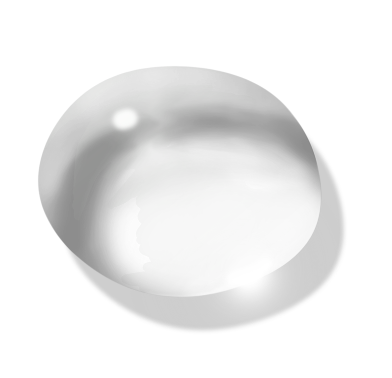 Transparent Water Drop PNG Picture.