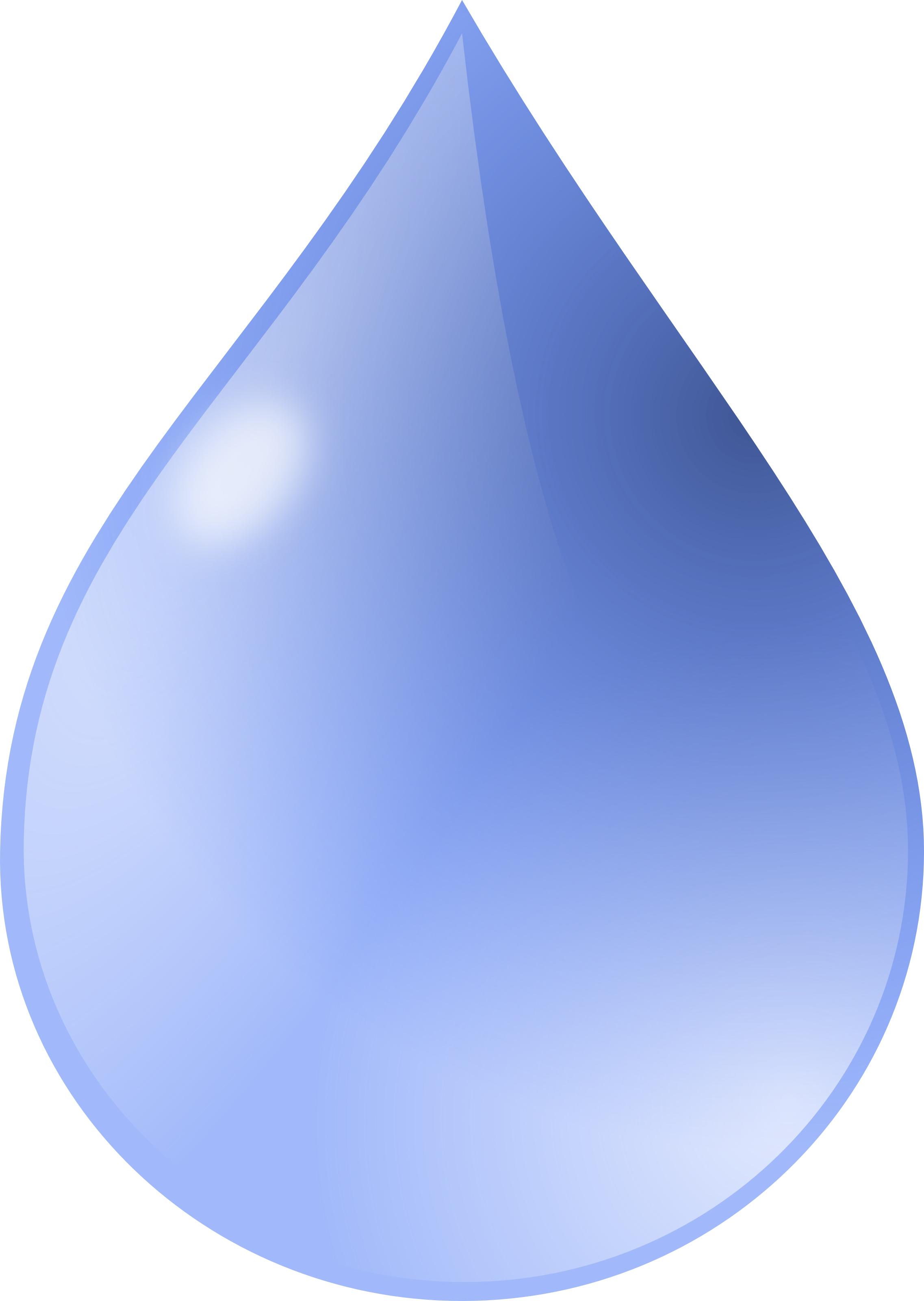 Transparent Water Drop Clipart.