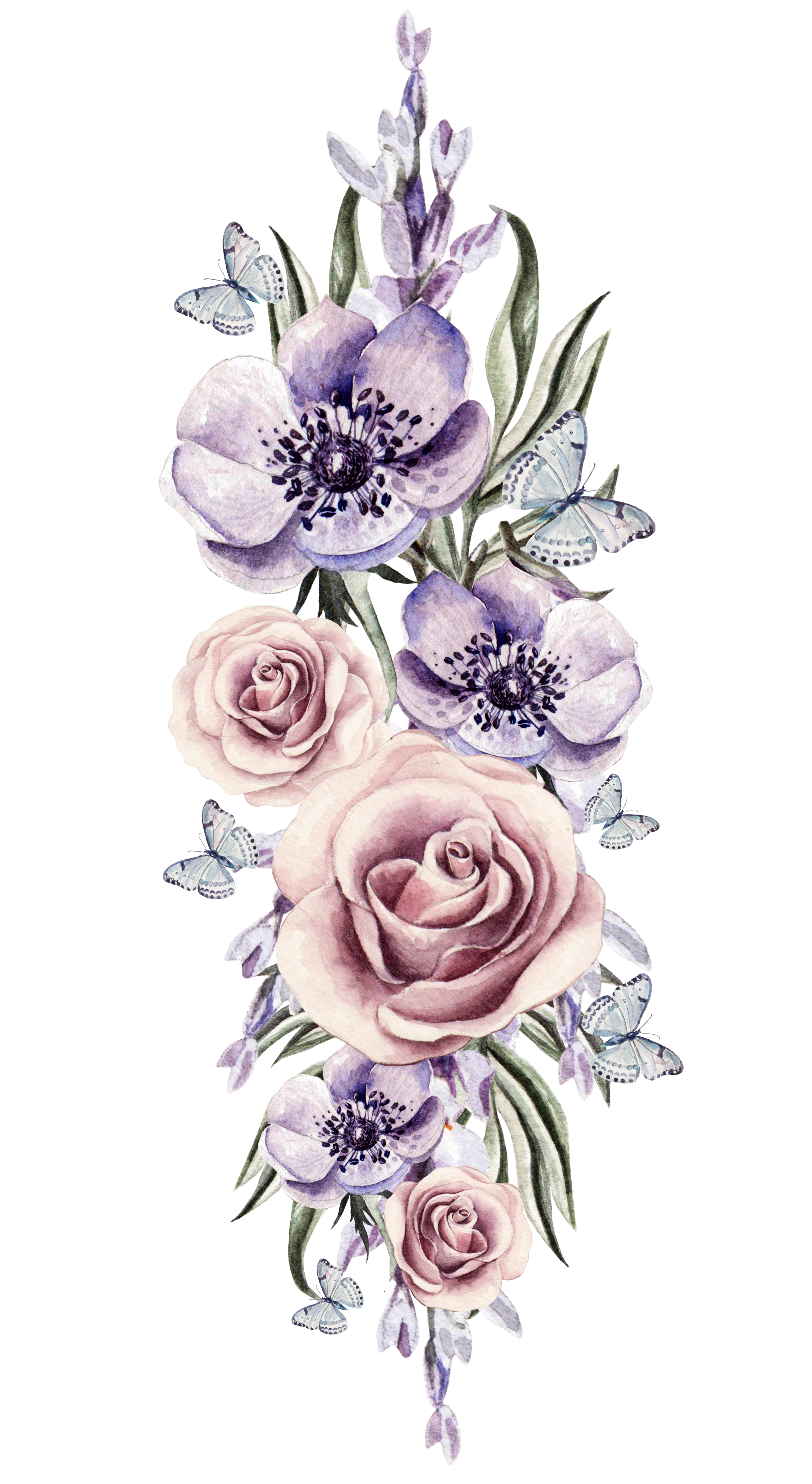 Watercolor Flowers Png, Vector, PSD, and Clipart With.