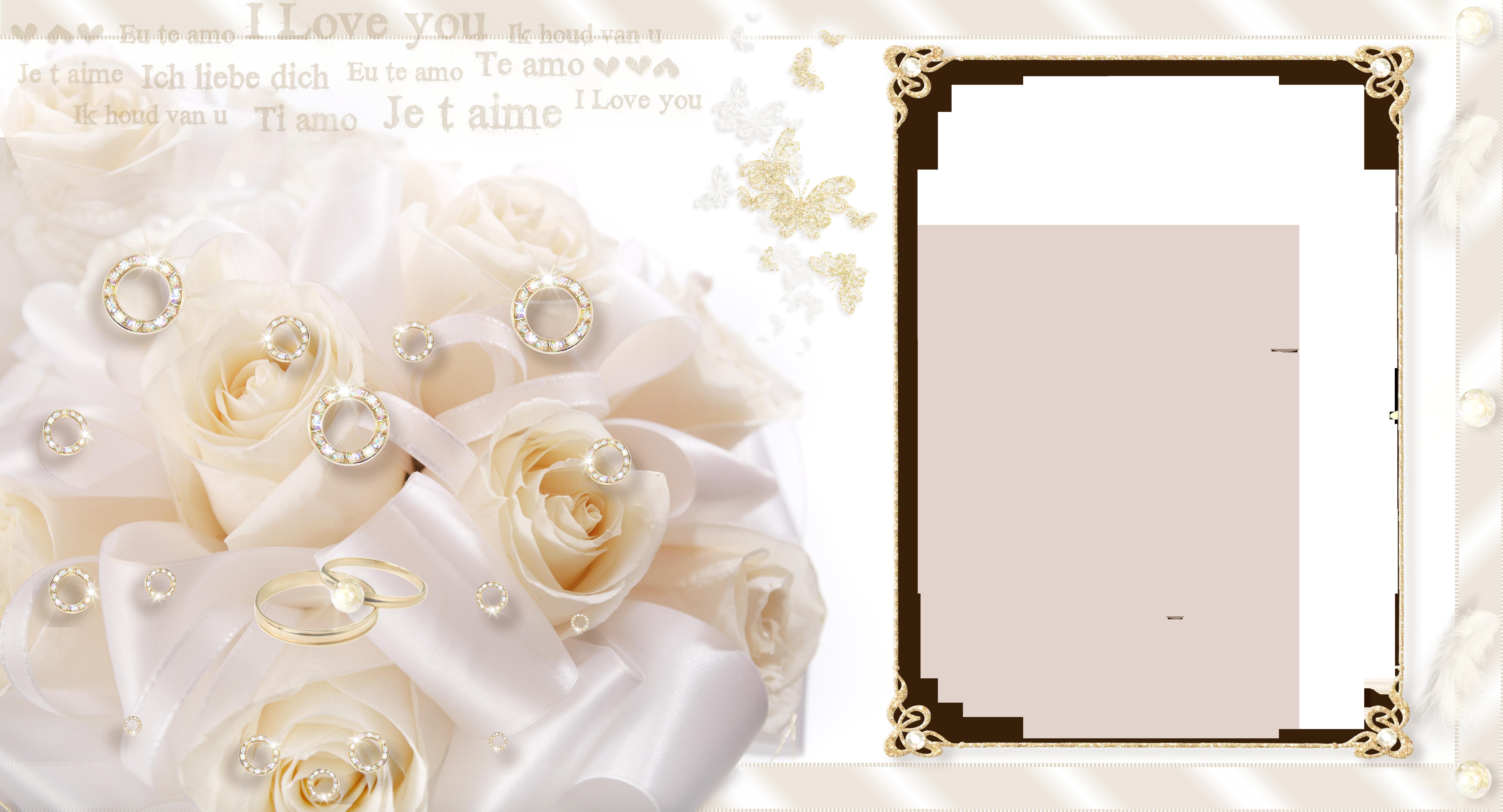 Large Transparent Wedding Frame.