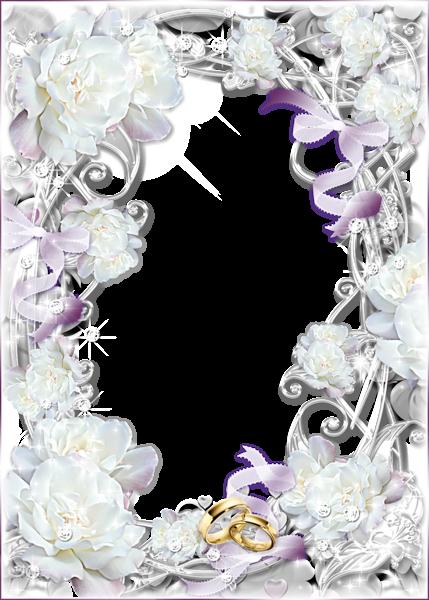 Delicate Transparent Wedding Photo Frame.
