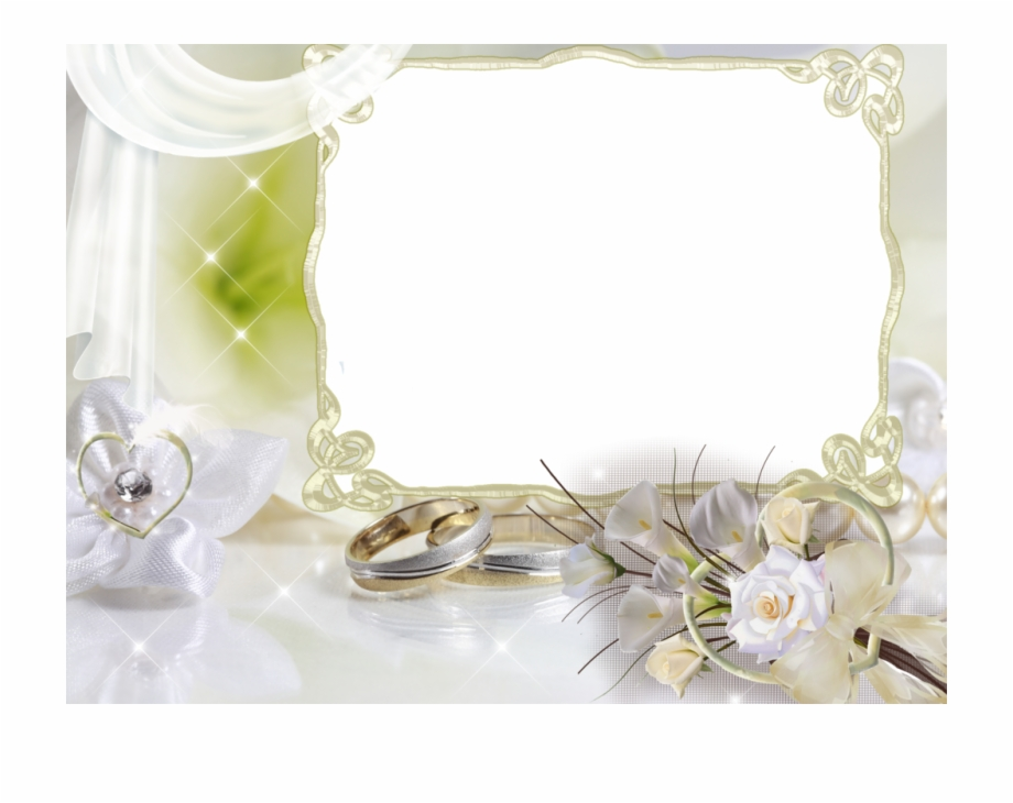 Beautiful Soft Weddings Transparent Background Wedding Frame.