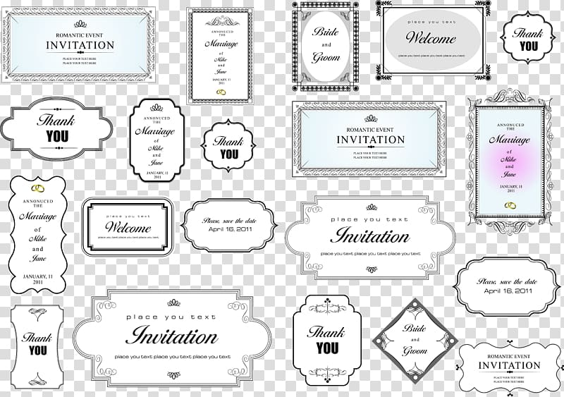 Simple Invitation Card Title Border , frame layout collage.