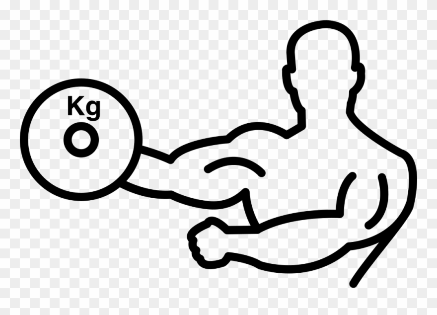 Bodybuilder Carrying Weight On One Hand Outline Svg.