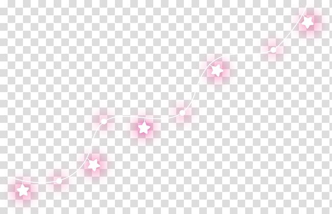 Pink and white star string light , Line Point Angle, String.
