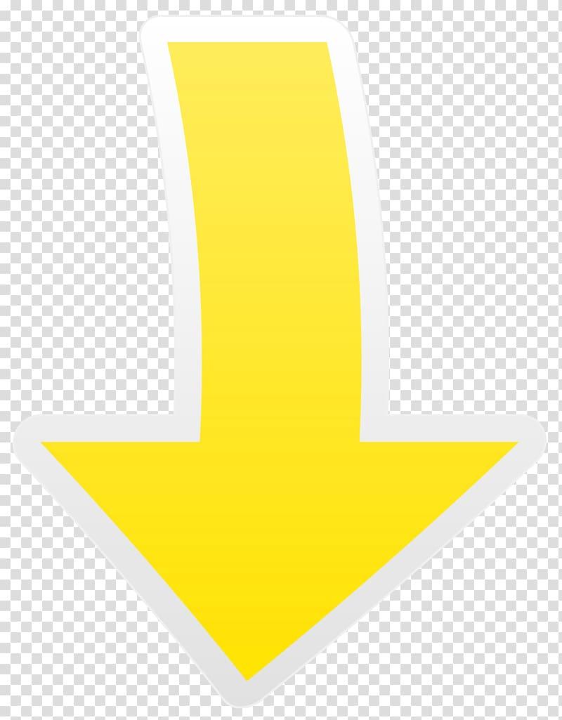 Yellow arrow, Yellow Font Design Pattern, Yellow Arrow Down.