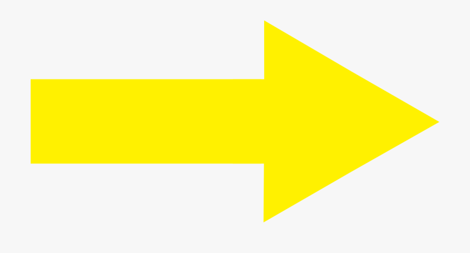 Yellow Arrow Pointing Right , Transparent Cartoon, Free.