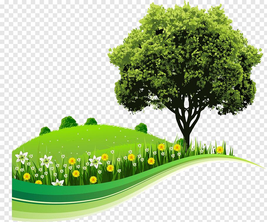 Cartoon Nature, Tree, Computer, Text, Natural Landscape, Sky.