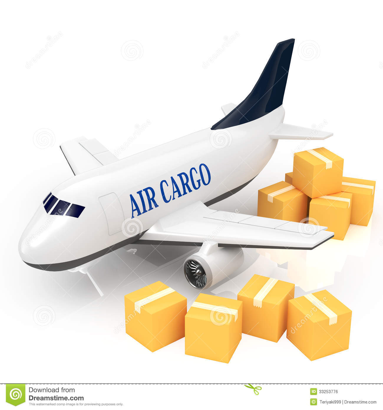 Clipart of shipping plane.