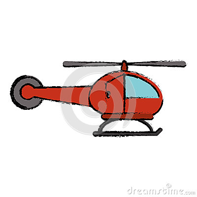Red Helicopter Transport Flight Icon Stock Illustration.