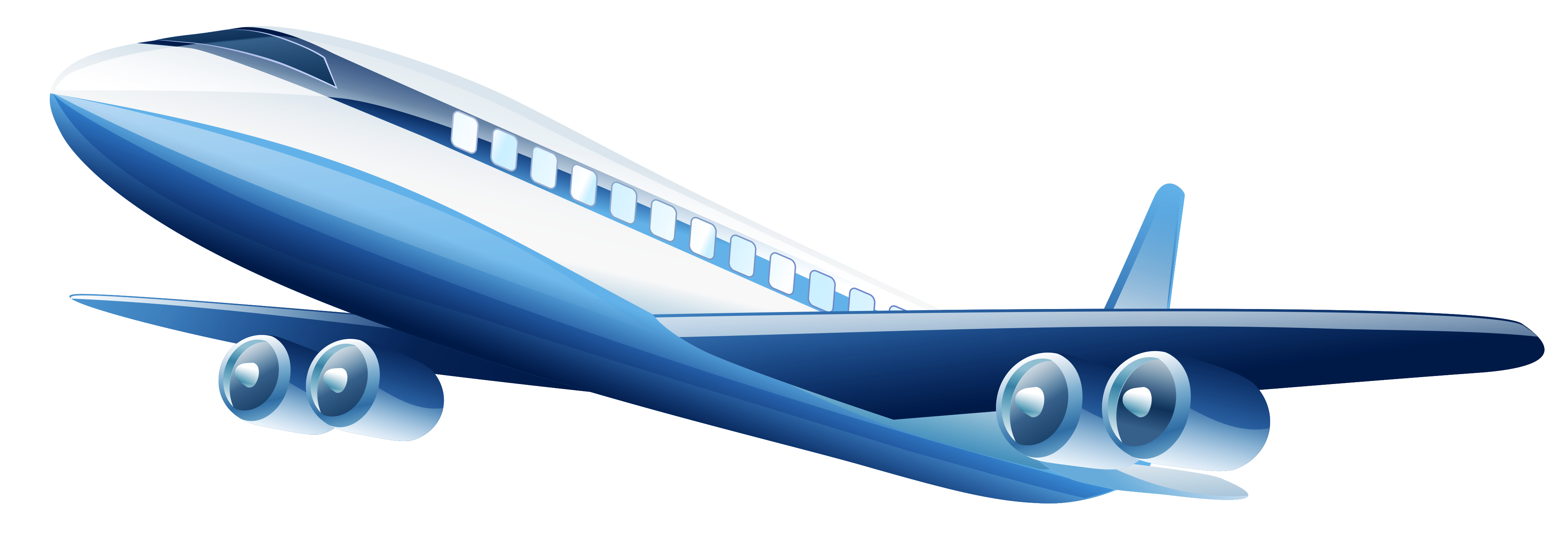 Blue Airplane PNG Clipart.