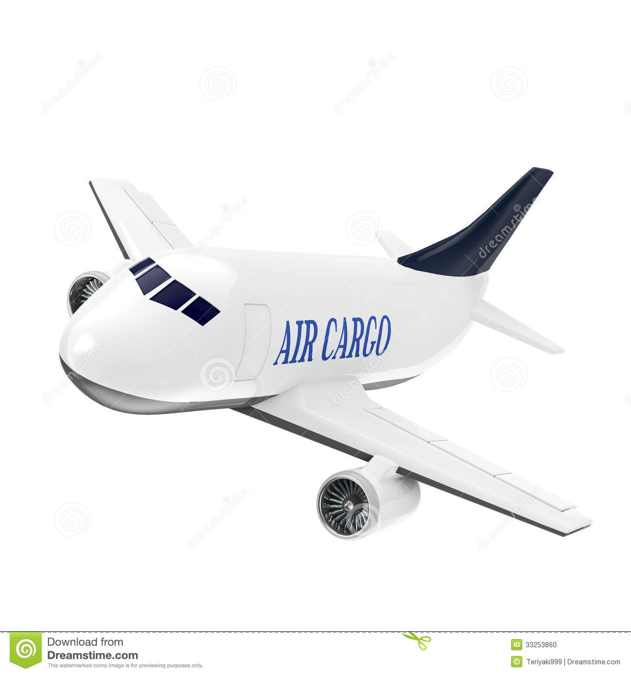Cargo Airplane Clipart.
