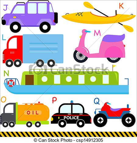 Vector Clipart of Car / Vehicles / Transportation.