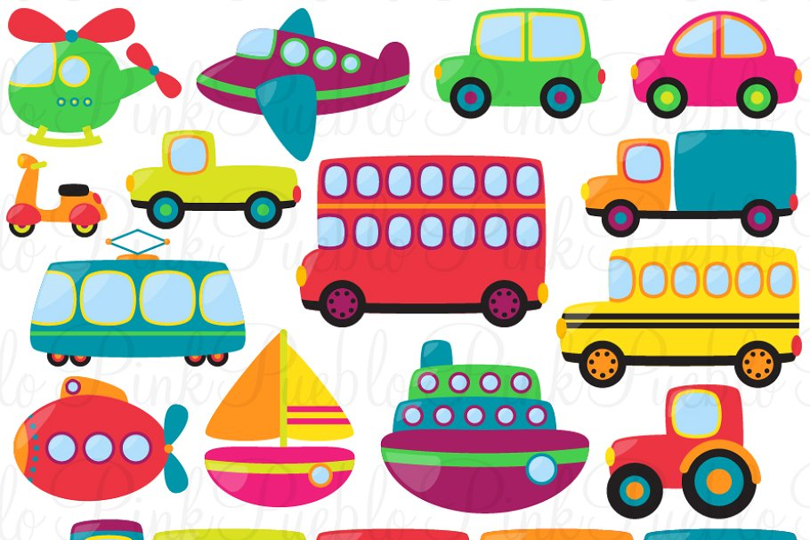 Transportation Clipart and Vectors.