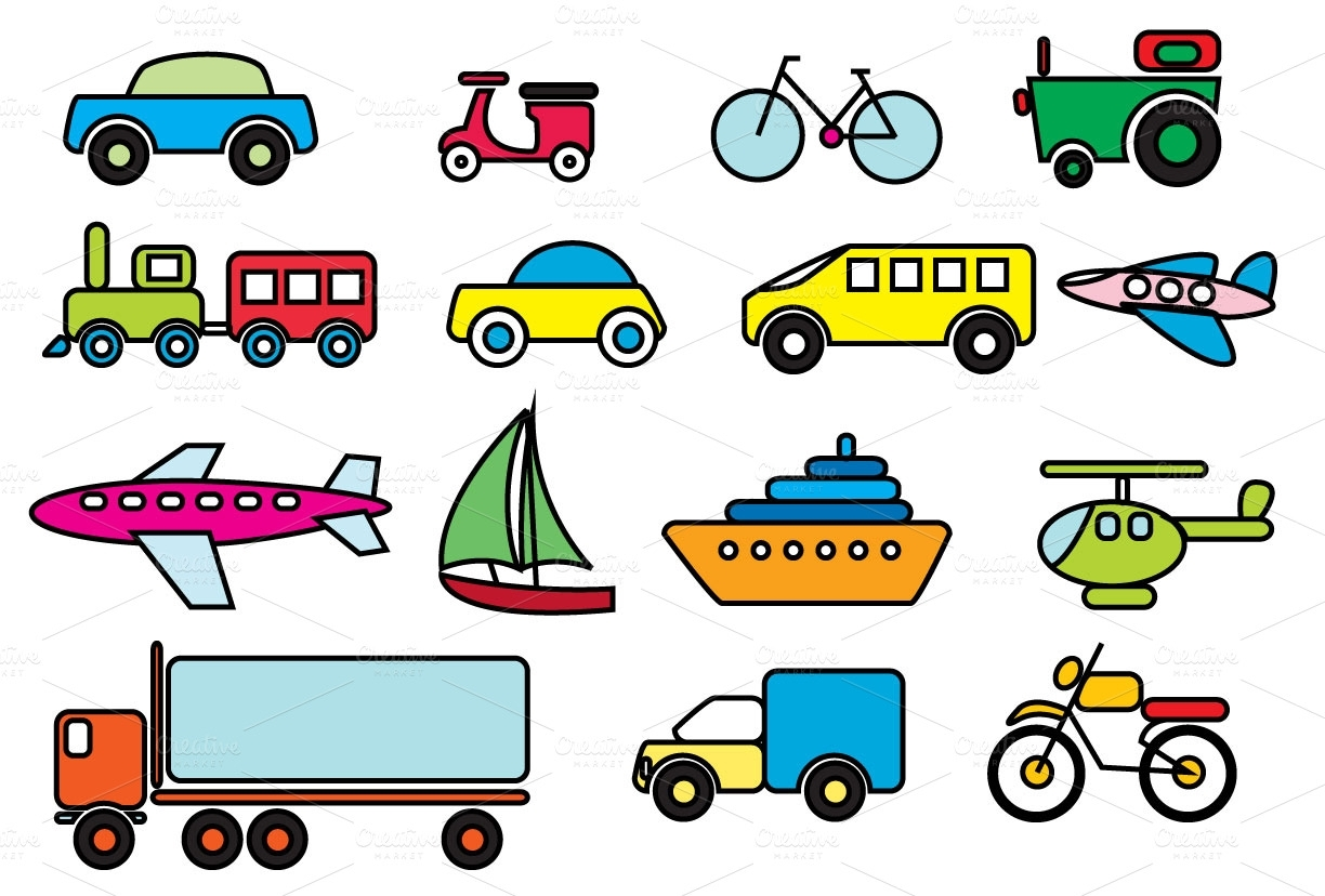 Modes Of Transport Clipart.