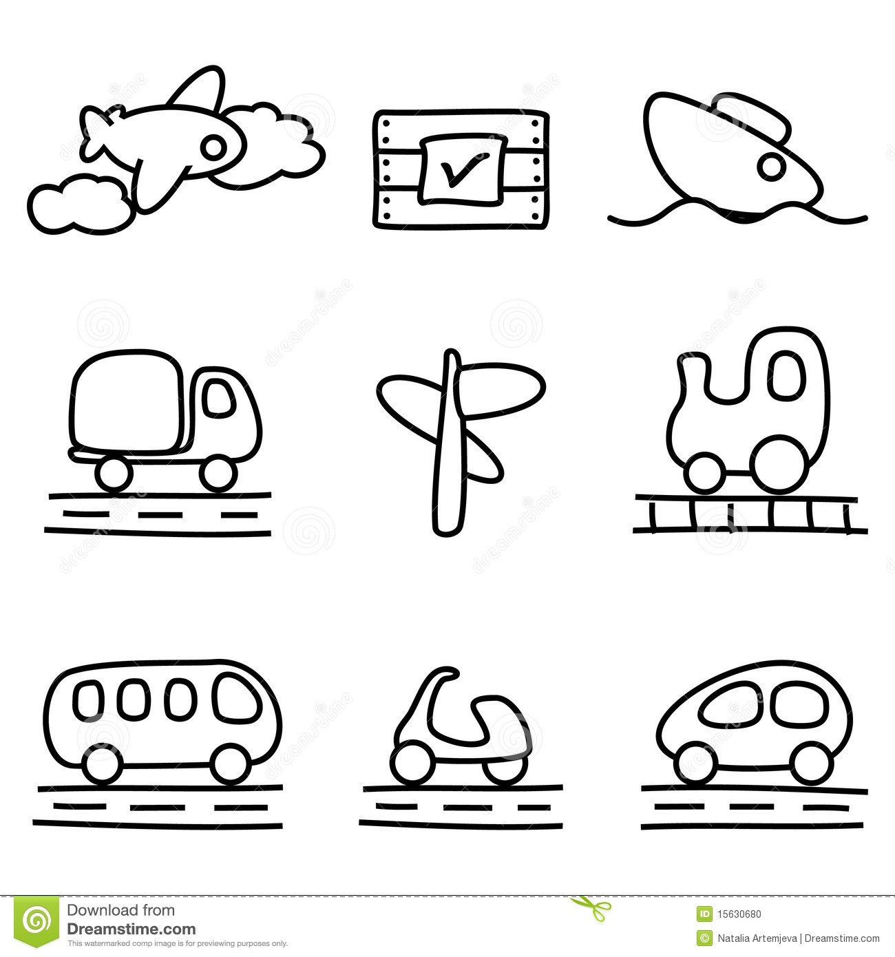 Transport clipart black and white 6 » Clipart Portal.