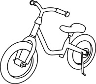 Free Black and White Transportation Outline Clipart.